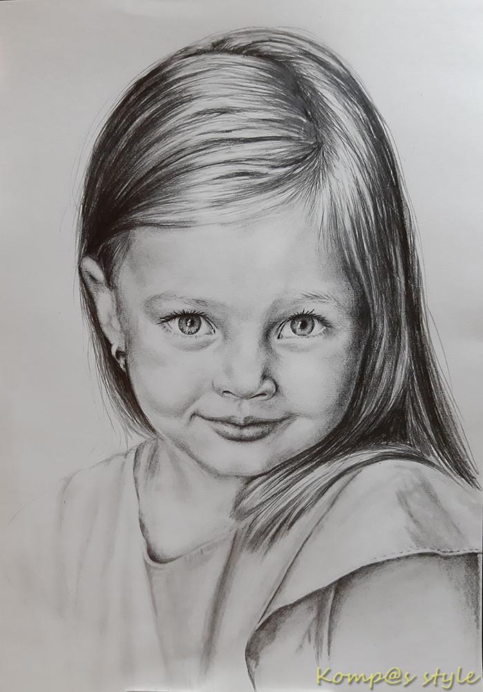 Как нарисовать портрет девочки карандашом