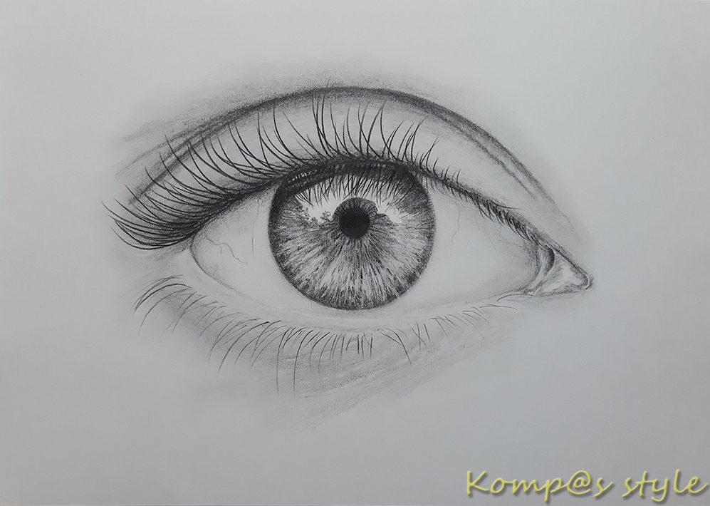 Как нарисовать глаз девушки