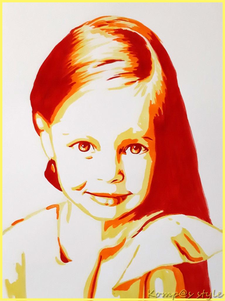 Как нарисовать поп-арт портрет